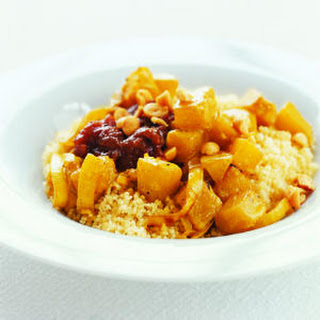 Butternut Squash with Couscous and Chutney.