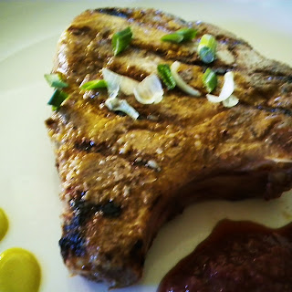 Grilled Chops with Asian Grape Sauce.