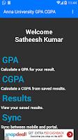 Screenshot of Student's Desk - GPA - CGPA