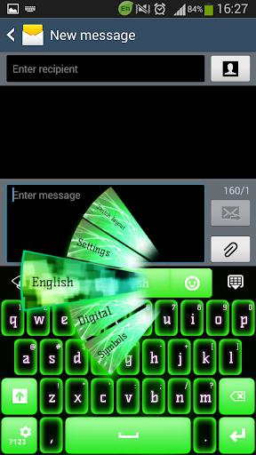 GO键盘绿色霓虹灯