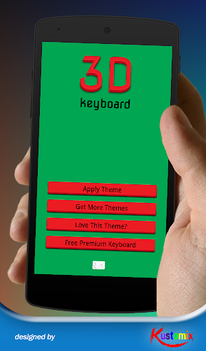 Red Green 3D Keyboard