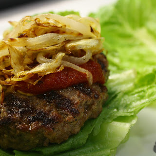 Cajun Burgers with Caramelized Onions