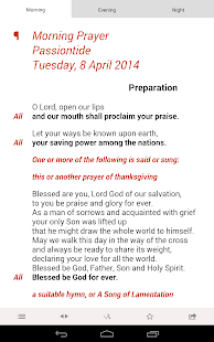 Daily Prayer: from the CofE- screenshot thumbnail