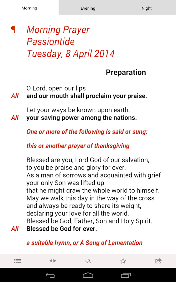 Daily Prayer: from the CofE- screenshot