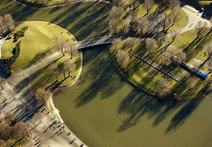 Shapes and Shadows by Mihaela Jurca - City,  Street & Park  City Parks ( olympiapark, olympliaturm, münchen, winter sun,  )