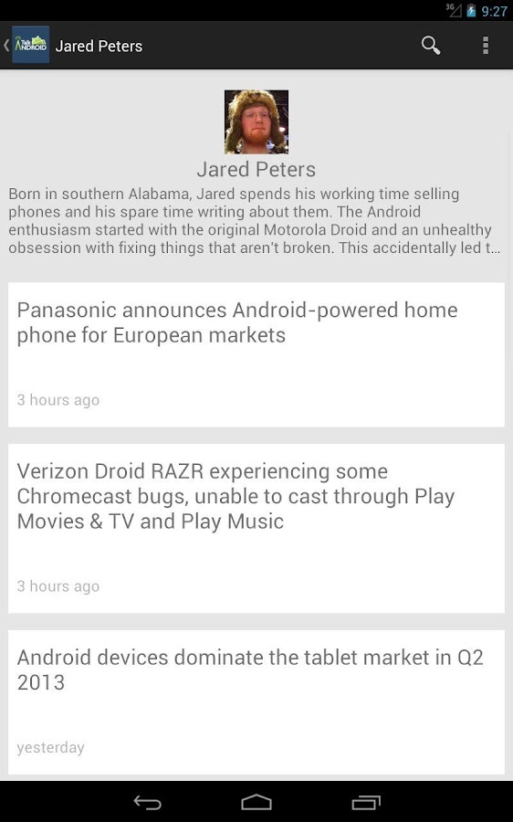 Talk Android- screenshot