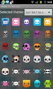 Icon Set C Go Launcher Ex v1.0