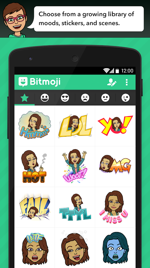 Bitmoji - Emoji by Bitstrips - screenshot