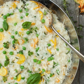 Early Summer Risotto with New Garden Vegetable & Herbs