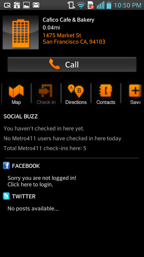 Metro 411- screenshot