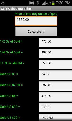 Scrap Gold Coin Calculator
