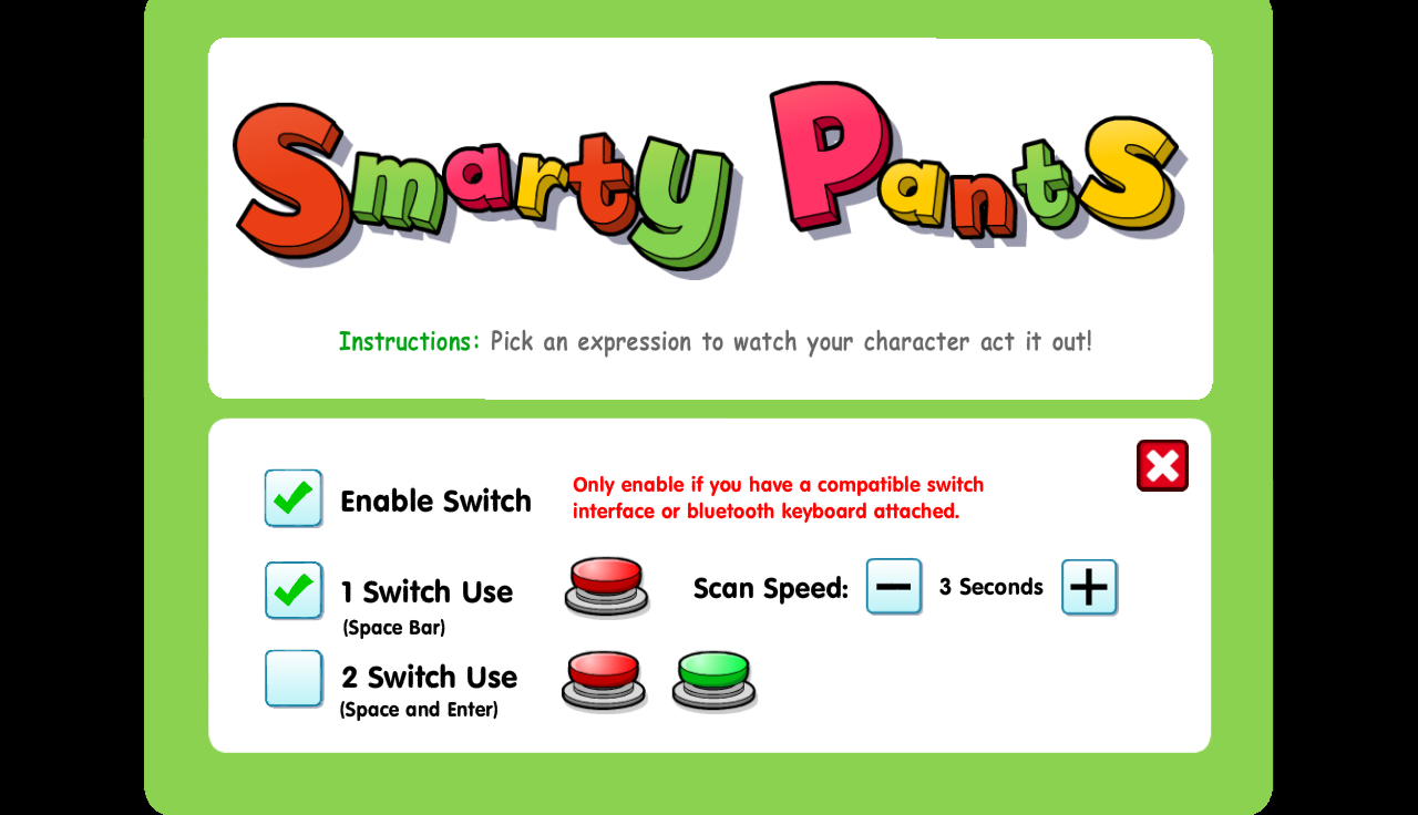 Inclusive Smarty Pants- screenshot