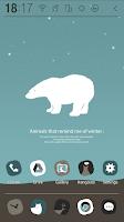 Screenshot of Animals of Winter Atom Theme