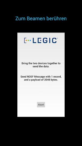 玩程式庫與試用程式App|LEGIC NFC P2P Example免費|APP試玩