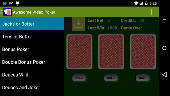 Awesome Video Poker!- screenshot thumbnail