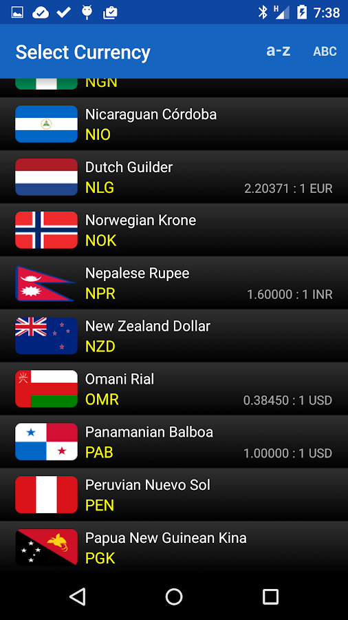 Exchange Rates (Donate)- screenshot