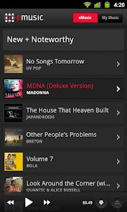eMusic - screenshot thumbnail