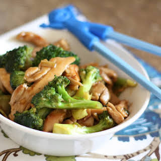 Ginger Chicken and Broccoli Stir Fry.