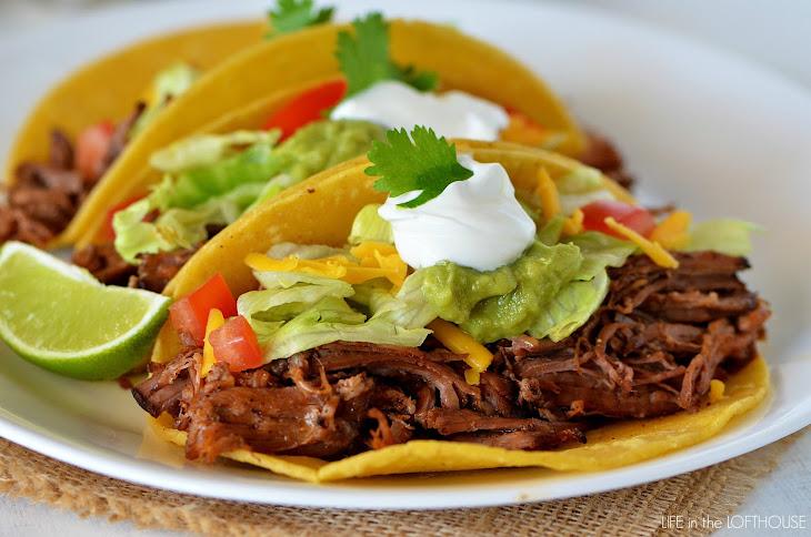 Crock Pot Shredded Beef Tacos Recipe