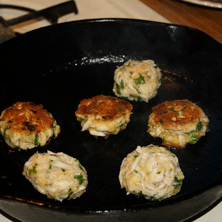 Green Onion and Mustard Crab Cakes.