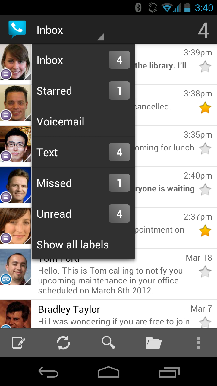 Google Voice screenshot #2