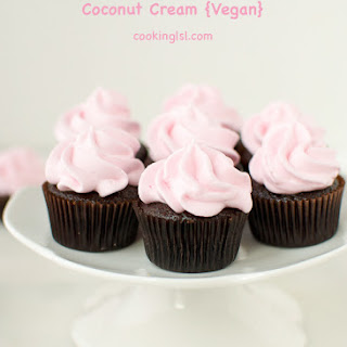 Mini Chocolate Cupcakes With Coconut Whipped Cream {Vegan}.