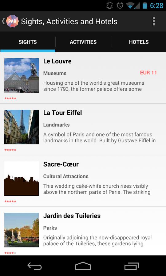 Holidayen Paris Guide- screenshot