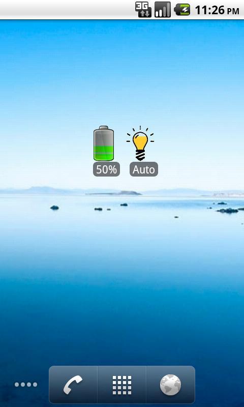 A Battery Widget Shield- screenshot