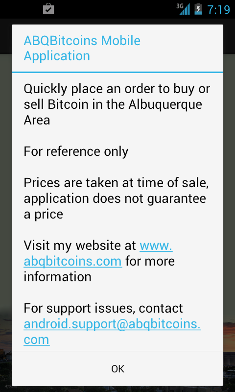 ABQBitcoins Mobile- screenshot