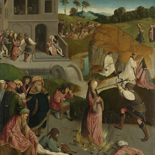The Martyrdom of Saint Lucy, Master of the Figdor Deposition, c. 1505 - c.  1510 - Rijksmuseum