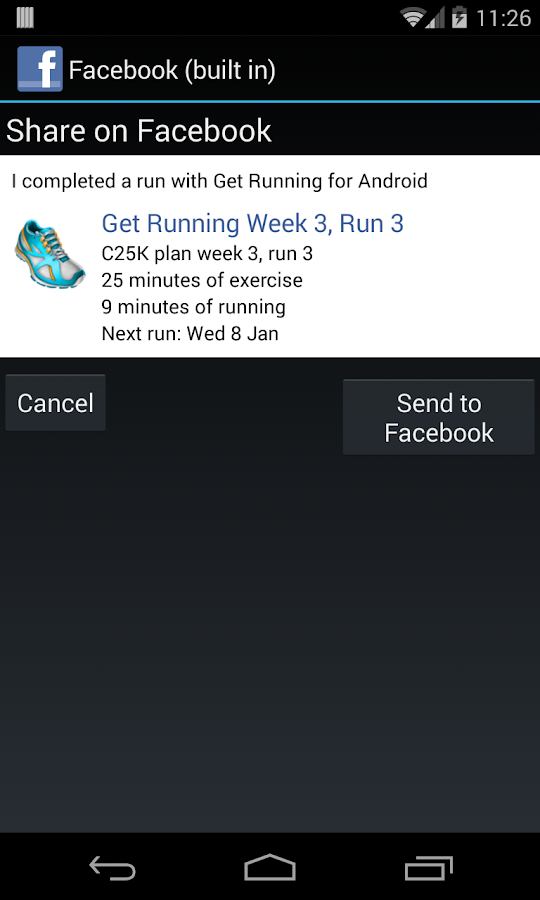 Get Running (Couch to 5K) - screenshot