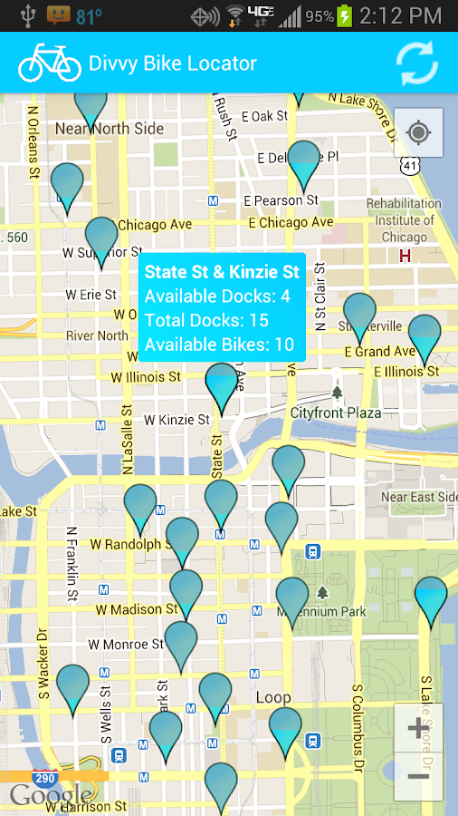 Divvy Bike Locator- screenshot