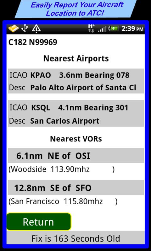 VFR Nav+ WorldWide GPS Air NAV - screenshot
