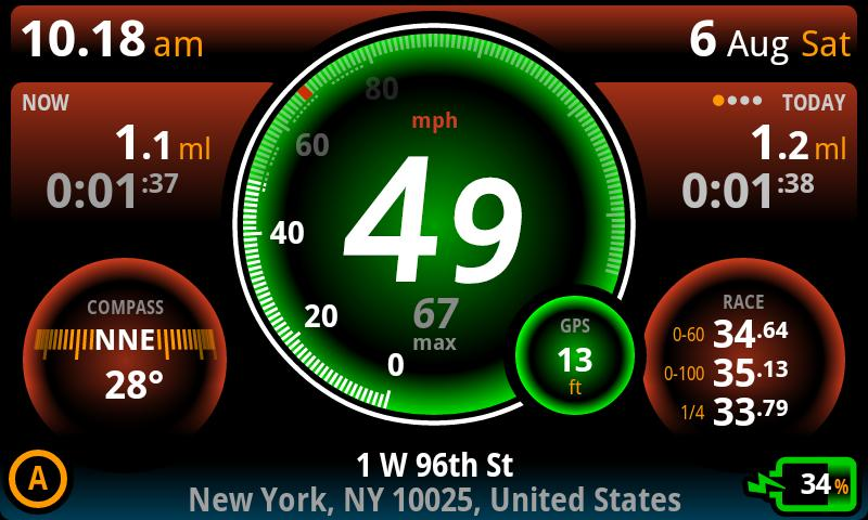 Ulysse Speedometer Pro- screenshot