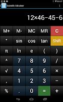 Screenshot of Scientific Calculator