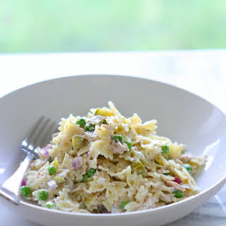 Tuna Pasta Salad with Dill & Peas.