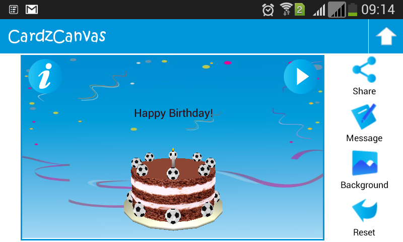 3D Animated Greeting Cards Android App Screenshot