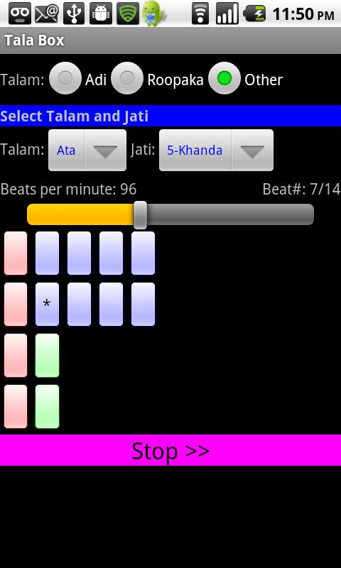 Carnatic Music Tala Box - screenshot
