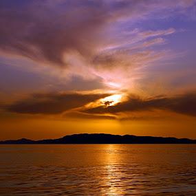 Island sunset by Adi Drnda - Landscapes Sunsets & Sunrises