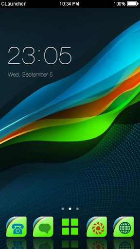 Color Wave Launcher Theme