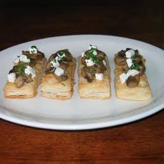 Mini Mushroom and Goat Cheese Tarts.