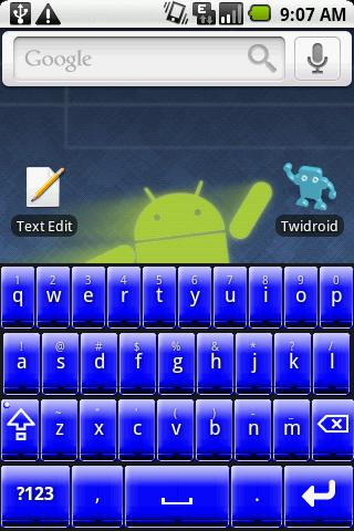 Better Keyboard Skin - Blue- screenshot