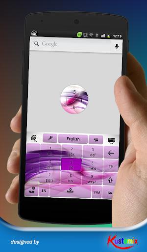 個人化必備APP下載|Purple Waves Keyboard 好玩app不花錢|綠色工廠好玩App