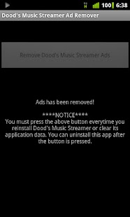 Dood's Music Ad Remover - screenshot thumbnail
