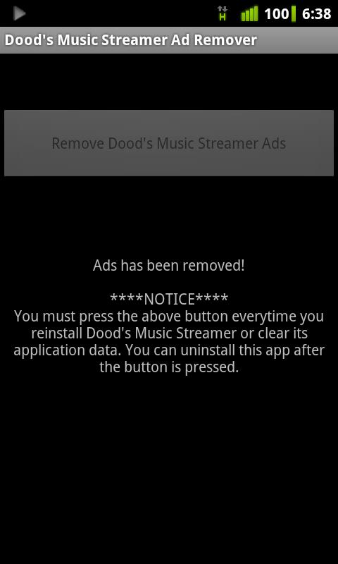Dood's Music Ad Remover- screenshot