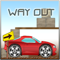 Car Driving. Way Out icon