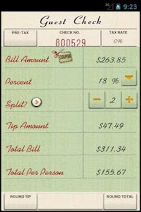 Tip Me (Tip Calculator) - screenshot thumbnail