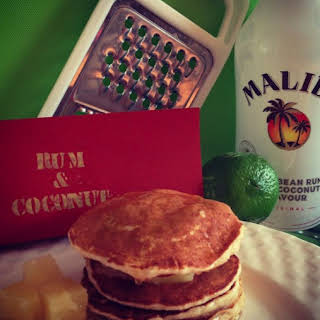 Rum and Coconut Pancakes.