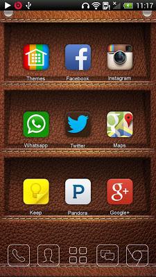 Leather Bookshelf Wallpaper - screenshot