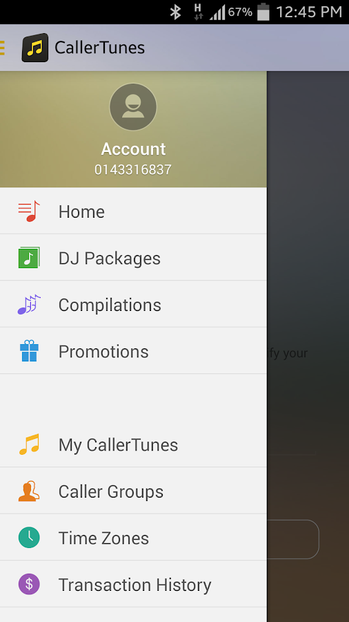 CallerTunes - screenshot